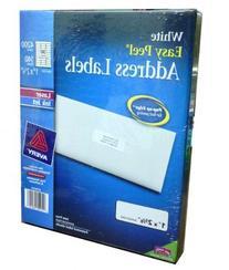 Avery Easy Peel White Address Labels for Laser and Inkjet