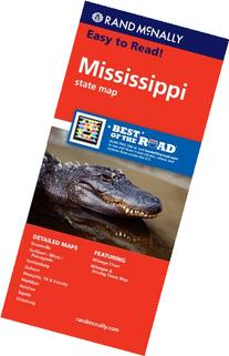 Rand McNally Easy To Read: Mississippi State Map