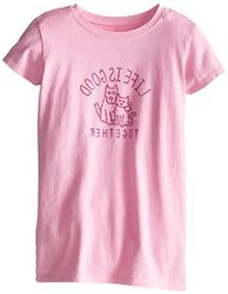 Life is good Girl's Easy Together Tee, Deco Pink, X-Large