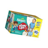 Pampers Easy Ups Trainers for Boys Value Pack, 80 Count ,