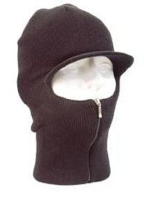Easy ZIP Down Knit SKI Visor Face Mask Zipper up Balaclava