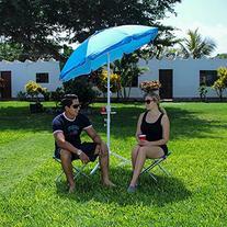 5.5' EasyGoShade Blue Portable Sun Shade Umbrella with