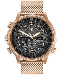 Citizen Men's Eco-Drive Navihawk At Rose Gold-Tone Ion
