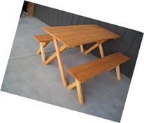 5 Foot Economy Outdoor Picnic Table with 2 Benches Amish