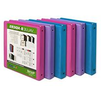Samsill Fashion Color 3 Ring Binder, 1 Inch Round Rings,