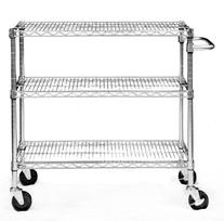 TRINITY EcoStorage 3-Tier NSF Chrome Cart