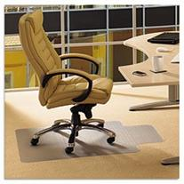 """Ecotex Enhanced Polymer Chair Mat for Carpets up to 3/8"""", 48"""