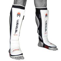 Meister EDGE Leather Instep Shin Guards w/ Gel Padding  -