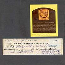 Edward Barrow Autographed / Signed Check w/ Plaque