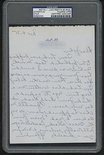 Effa Manley Autographed Letter Signed to John Holway - PSA/