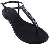 Cole Haan Women's Effie Jewel Sandal,Black Leather,7.5  B US