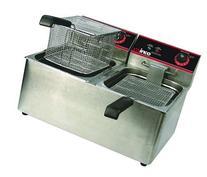 Winco EFT-32 Deep Fryer, electric, countertop double well