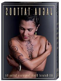 Organic Jagua Black Temporary Tattoo and Body Painting Kit
