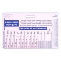 EKG Ruler Horizontal Badge ID Card Pocket Reference Guide ECG