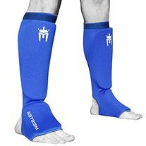 Meister MMA Elastic Cloth Shin & Instep Padded Guards  -
