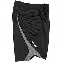 Reusch Adult Eldarion Goalkeeper Shorts, Black/Grey, X-Large