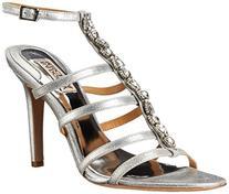 Badgley Mischka Women's Elect II Dress Sandal, Silver/