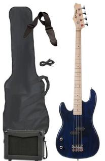Full Size Electric Bass Guitar Starter Beginner Pack with