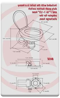 TMC Electric Marine Large Deluxe Toilet/head 12v for Boat &