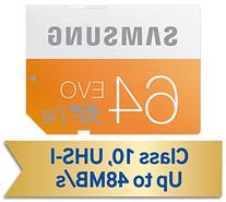 Samsung 64GB EVO Class 10 SDXC Card up to 48MB/s