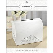 Amscan Elegant Wedding Card Holder Box with Tassel