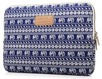 KAYOND Elephant Patterns Canvas Fabric 17 Inch for Macbook