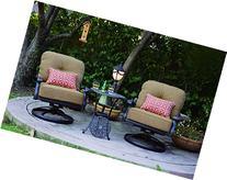 Darlee Elisabeth 3-Piece Club Rocker Chair Set with Seat and