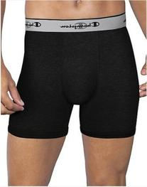 Champion Men's 3-Pack Smart Temp Boxer Brief, Black, LARGE