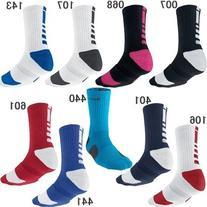 Nike Elite Basketball Crew Socks Small , Navy / White