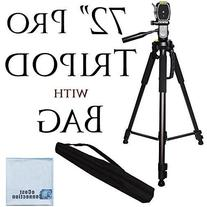 72 Inch Elite Series Professional, Full Size Camera Tripod