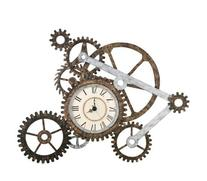 Southern Enterprises Elko Gear Wall Art with Clock