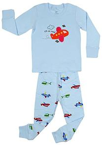 "Elowel Boys ""Airplane"" 2 piece pajama Set 100% Cotton - 5"
