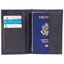 Embassy Solid Genuine Leather Passport Cover with RFID