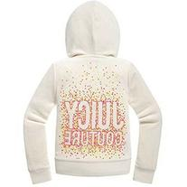 Juicy Couture 'Neon Dot Juicy' Embellished Hoodie , Ivory