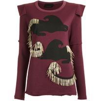 Andrea Bogosian - embellished sweatshirt - women - Cotton/
