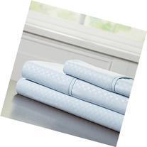 Lavish Home Embossed Sheet Set, Blue, Twin