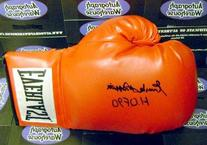 Emile Griffith autographed Boxing Glove inscribed HOF 90