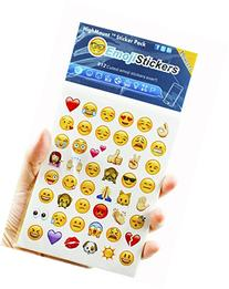 Happy Emoji Stickers 19 Sheets with Emojis Faces Christma