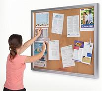 Displays2go 48 x 36 Inches Enclosed Bulletin Board for Wall