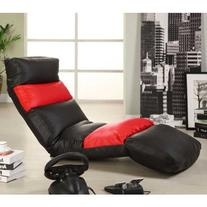 Encore 5-position Red & Black Finish Sleeper/ Lounge Chair