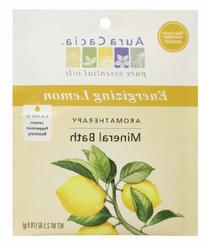 Aura Cacia Energizing Lemon Mineral Bath Packet, 2.5 Ounce