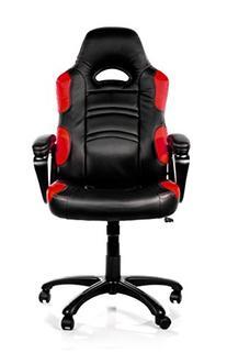 Arozzi Enzo Series Gaming Racing Style Swivel Chair, Black/