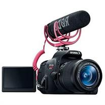 Canon EOS Rebel T5i Video Creator Kit w/ Lens, Rode VideoMic