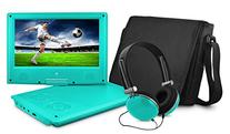 DVD Player, Ematic 9 inch Swivel Teal Portable DVD Player