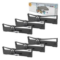 LD © Compatible 6 Pack Black Ribbon Cartridges for Epson