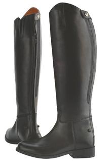 Saxon Equileather Ladies Dress Boot with Elastic - 10 Wide