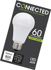 TCP LED Connected A19, 60 W Equivalent , Soft White , WiFi Enabled Wireless Smart Standard Light Bulb