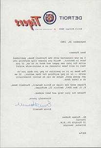 Ernie Harwell Typed Letter Signed To Furman Bisher Asking