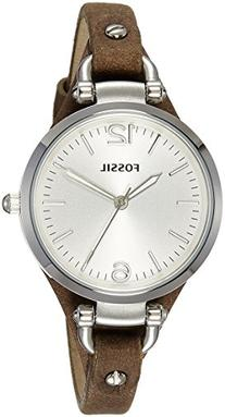 Fossil Women's ES3060 Georgia Three Hand Tan Leather Strap