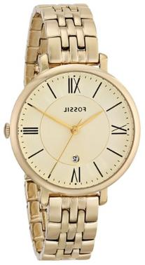 Fossil Women's ES3434 Jacqueline Gold-Tone Stainless Steel